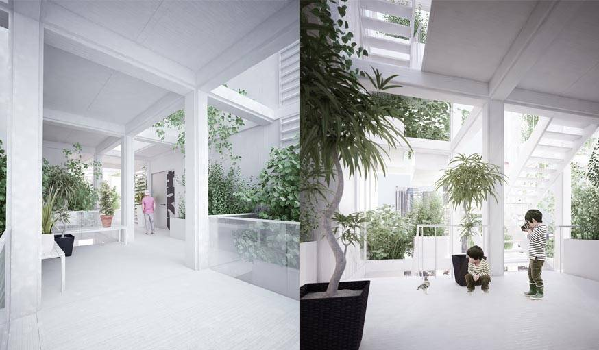Les couloirs seront ouverts au vent pour que l'air circule et rafraichisse le bâtiment, ce qui devrait réduire l'usage de la climatisation.