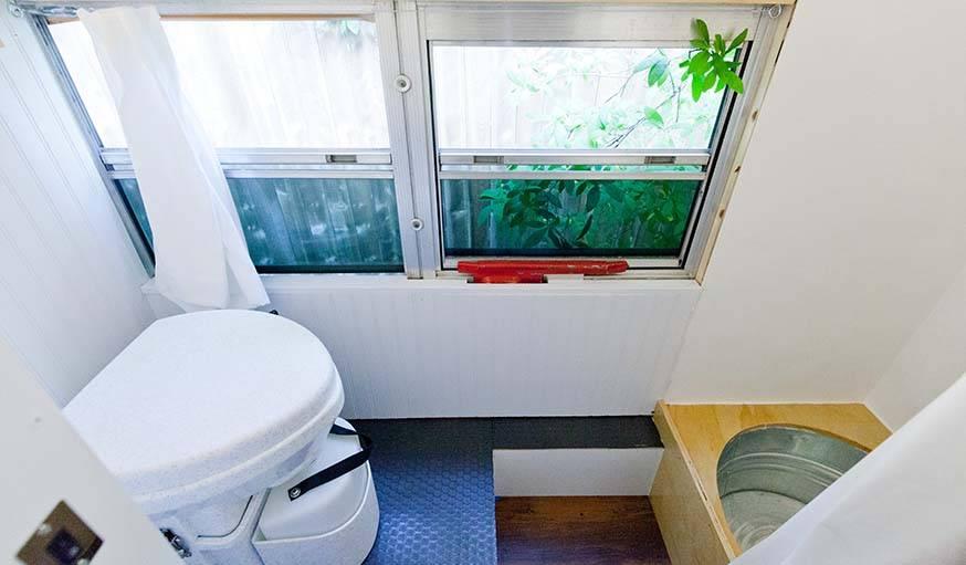 Les toilettes sèches sont à la fois écolo et pratiques.