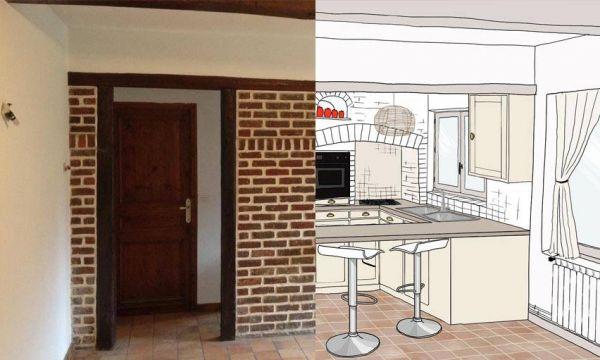 Moderniser une cuisine en briques