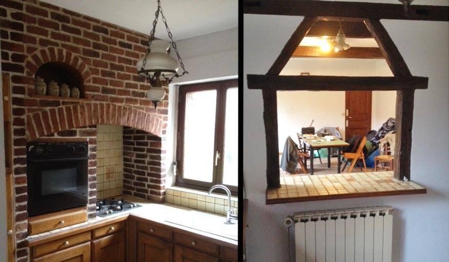r novation cuisine repeindre des briques et cr er une cuisine ouverte. Black Bedroom Furniture Sets. Home Design Ideas