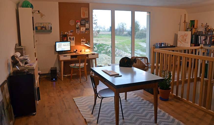Le bureau de Marion, à l'étage.