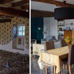 Le séjour avant et après la rénovation.