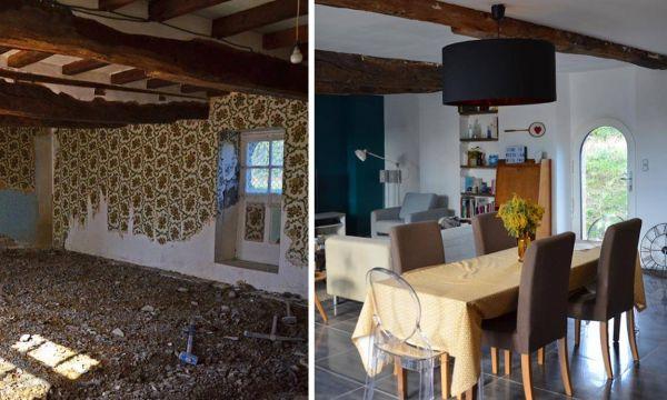 Avant / après : une ferme normande transformée en paradis scandinave