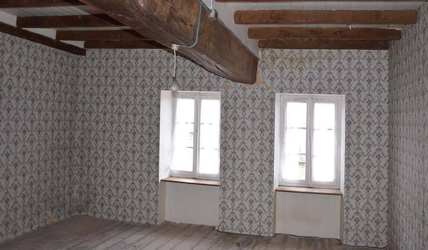La chambre principale avant travaux.