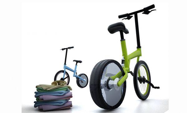 Laver son linge en pédalant sur son vélo