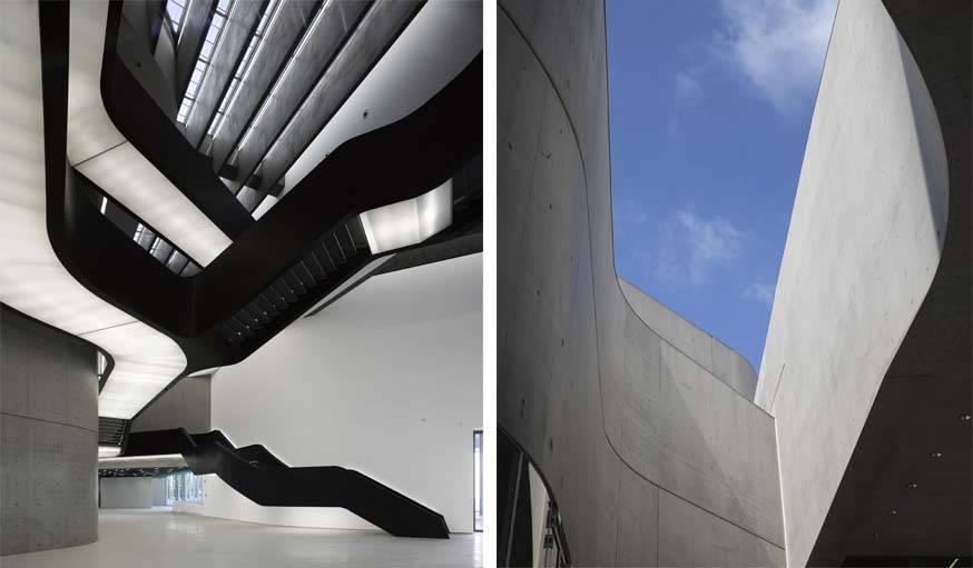 MAXXI, le musée d'art contemporain de Rome, par Zaha Hadid.
