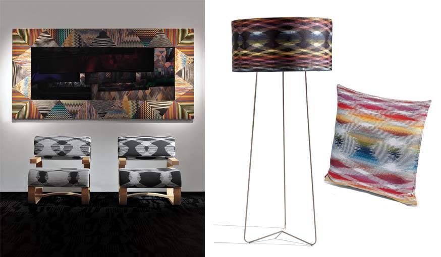 Collection Fireworks chez Missoni Home.