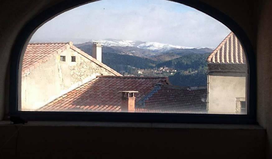 Vue depuis Aubenas (Ardèche), le 18 mars.