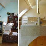 Une pièce sous les combles transformée en suite parentale.