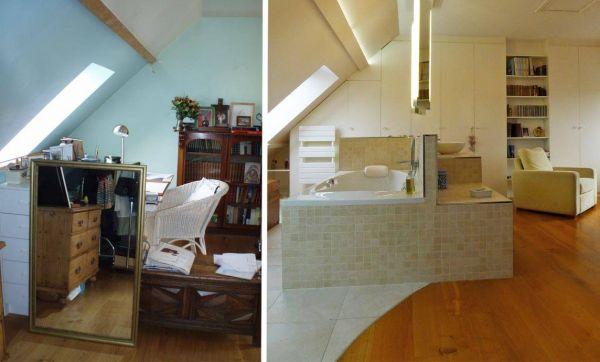 Avant / Après : éclairage design pour suite parentale de standing