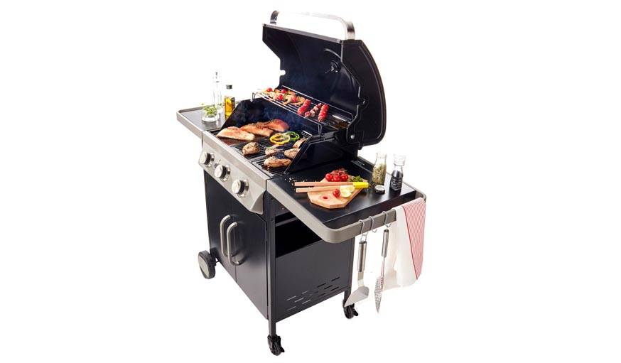 barbecue blooma barbecue cookingbox barbecue gaz paarl feux acier with barbecue blooma premier. Black Bedroom Furniture Sets. Home Design Ideas
