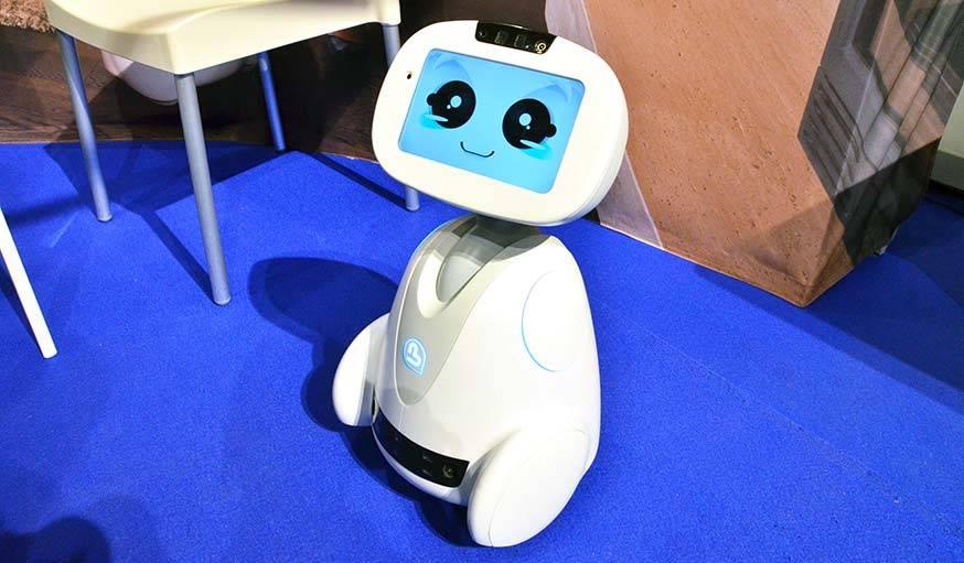 Buddy, le robot compagnon au salon Innorobo, en mai 2016.