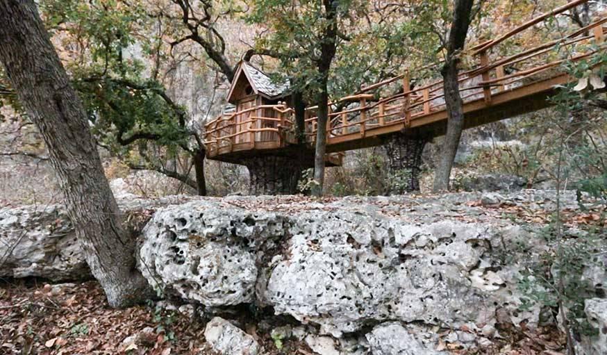 Cabane construite par Attie Jonker au Texas, Etats-Unis.