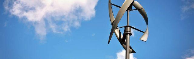 Une éolienne à axe vertical.