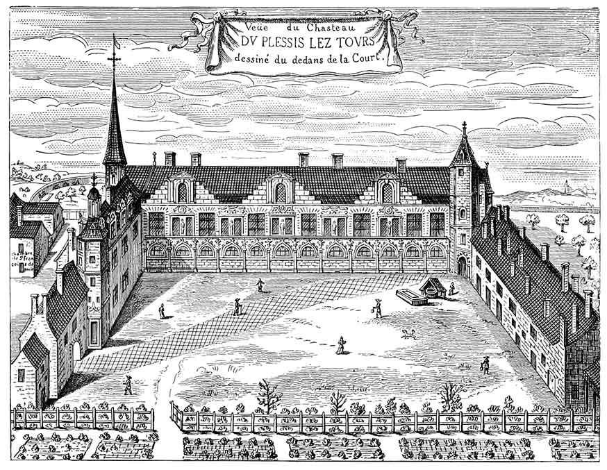 Le château de Plessis-lès-Tours.