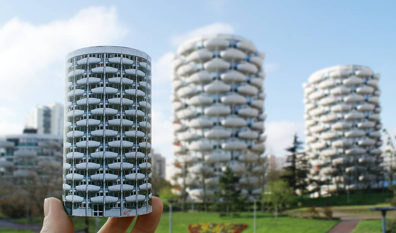 Des immeubles de paris en papier construire des for Construire votre propre immeuble