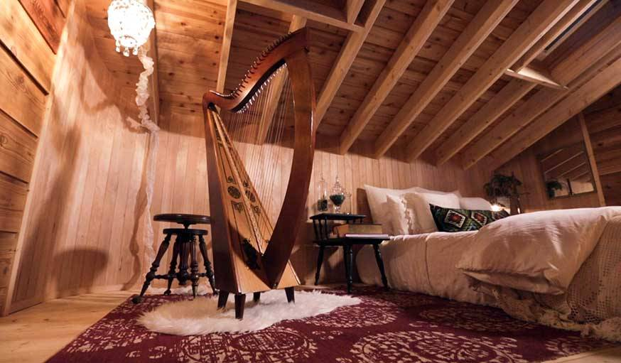 Cabane réalisée par David Geisen, dans le Nord-Ouest des Etats-Unis.