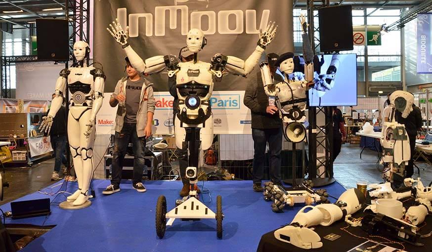 Les robots imprimés en 3D Inmoov.