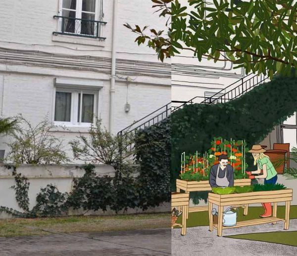 Créer un potager partagé dans une cour d'immeubles