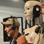 Robot imprimé en 3D InMoov, à la Maker Faire paris 2016.