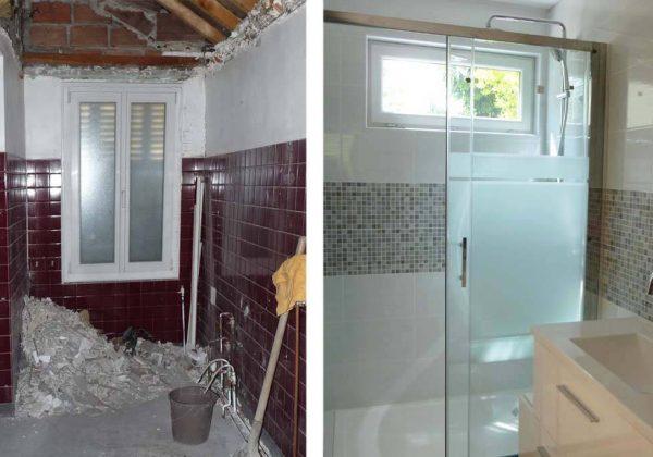 Avant Apres Renovation D Une Petite Salle De Bain En Longueur