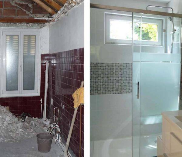 Avant / Après : déplacer la douche pour optimiser la salle de bains