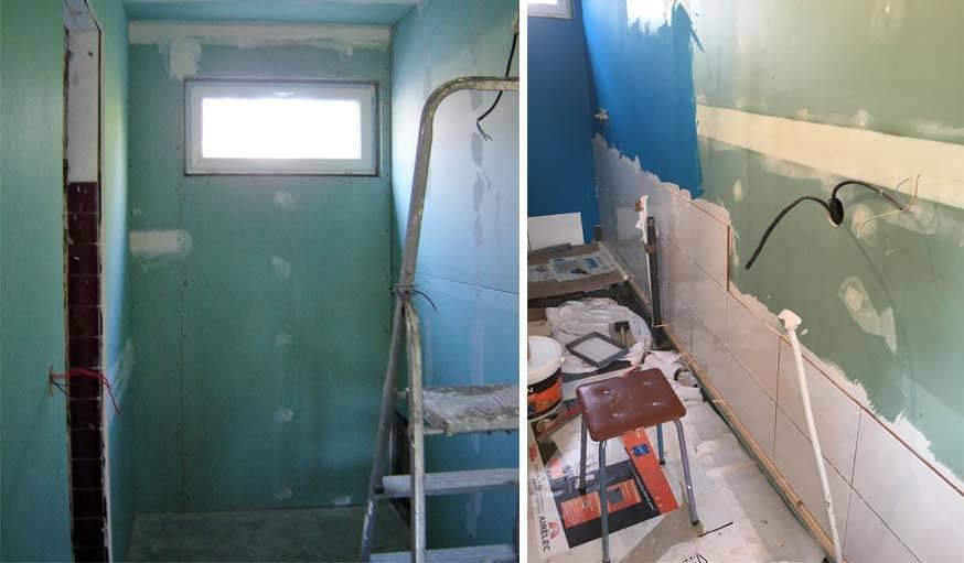 avant apr s r novation d une petite salle de bain en longueur installer une douche. Black Bedroom Furniture Sets. Home Design Ideas