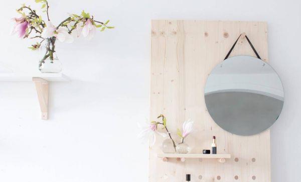 DIY : fabriquer un pegboard, meuble ludique et pratique pour l'entrée
