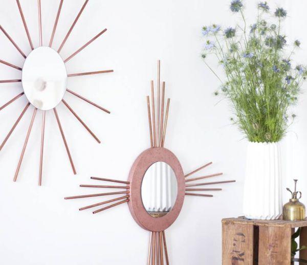 DIY : Fabriquer un miroir rosace