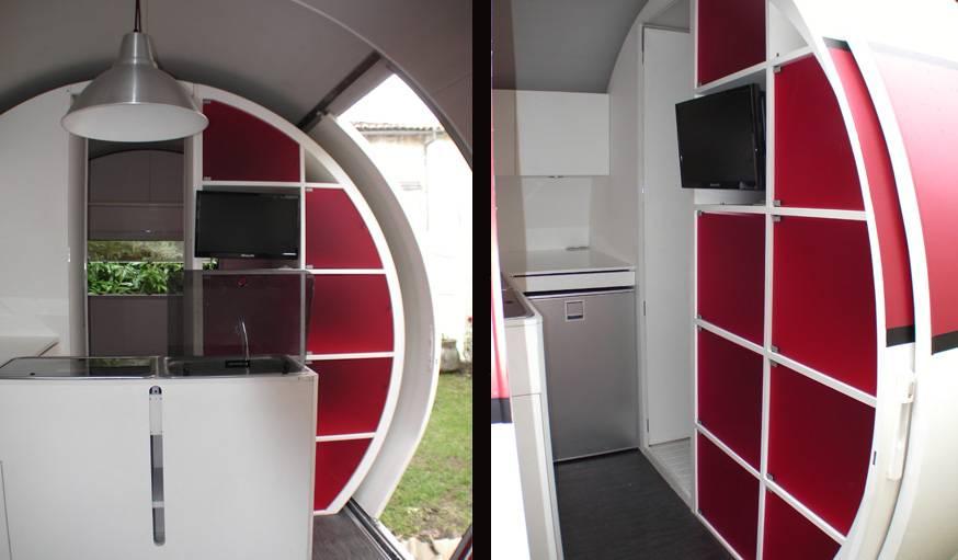 L'intérieur de la caravane 3X