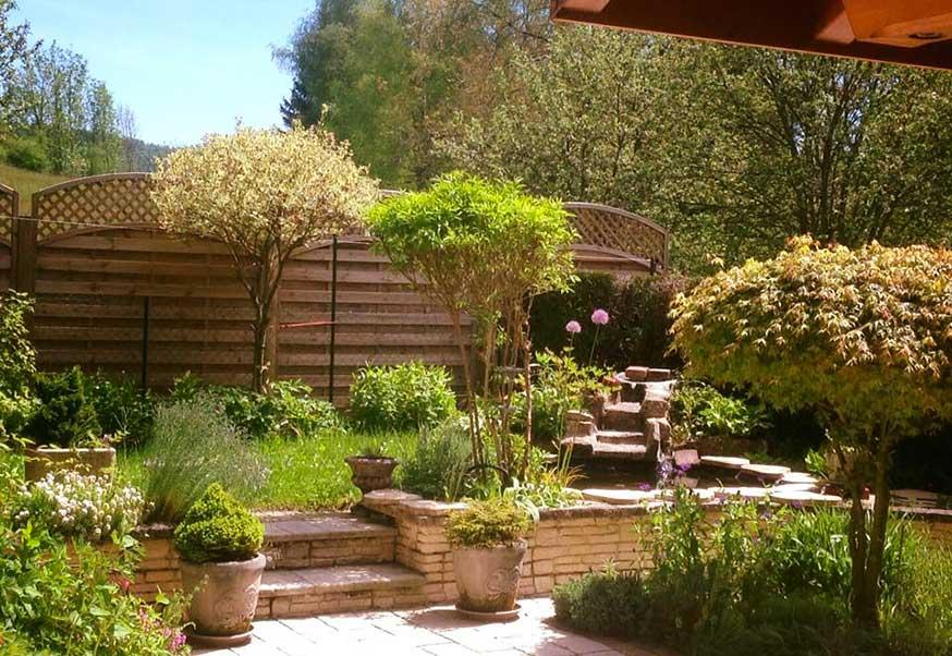 Une belle terrasse qui prend le soleil à Thoiria dans le Jura, le 21 mai.