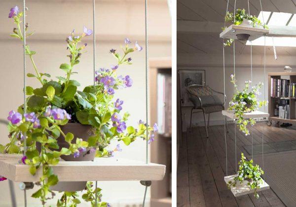 Tuto Plante Verte Fabriquez Une étagère Fleurie En Suspension