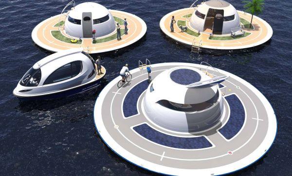 Habitat insolite : une soucoupe flottante écolo et autonome