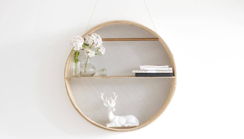 DIY : Une étagère ronde et épurée dans un tamis