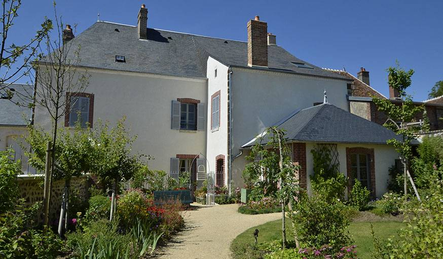 Le jardin de la maison de Colette.