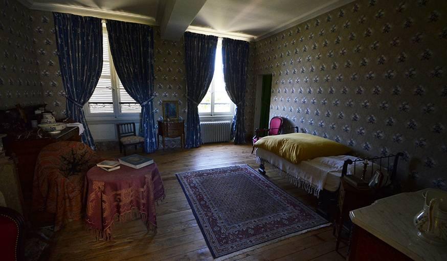 La chambre qu'occupa Colette lors du départ de sa soeur.