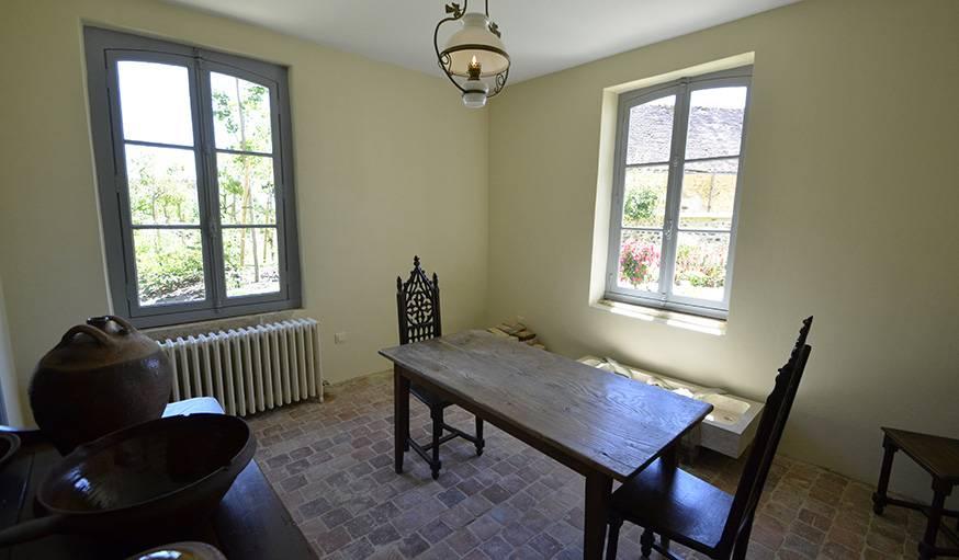 La petite cuisine de la famille Colette, qui recevait très peu.