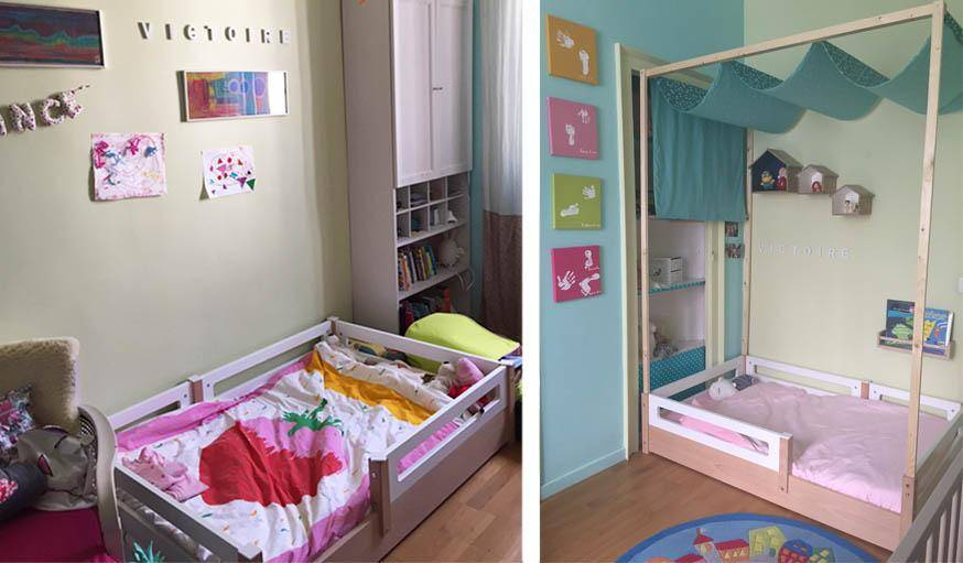 diy fabriquer un lit baldaquin pour enfant tuto pour. Black Bedroom Furniture Sets. Home Design Ideas