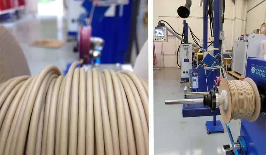 C'est le carbonate de calcium contenu dans les coquilles d'huîtres qui permet d'obtenir un fil d'imprimante 3D flexible  mais suffisamment solide.