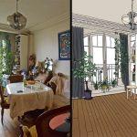 Le même appartement avant et après le tri.
