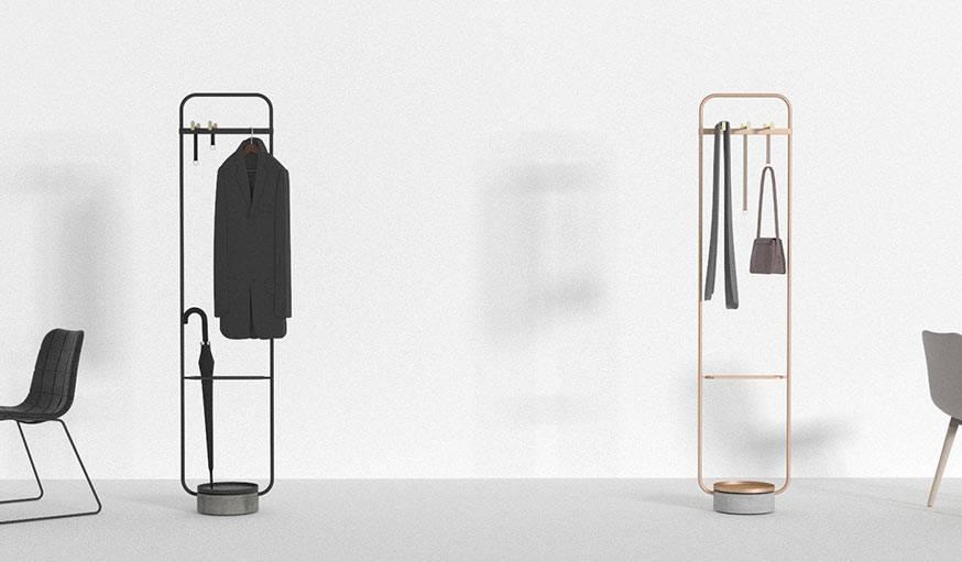 Le portemanteau créé par le studio Neri&Hu pour Offecct.