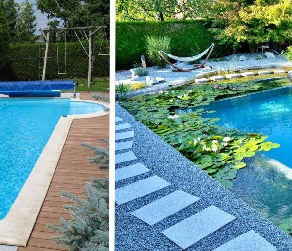 Avant / Après : une piscine au chlore transformée en baignade naturelle