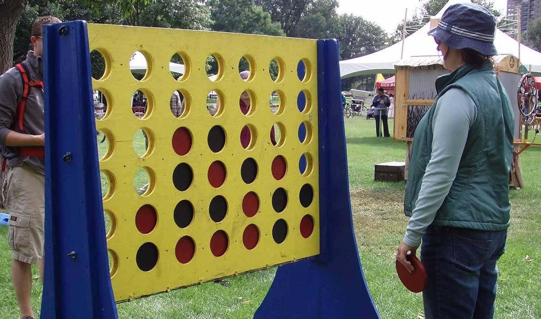Fabriquez un jeu en bois g ant align 4 jetons et c 39 est for Fabriquer un portillon en bois