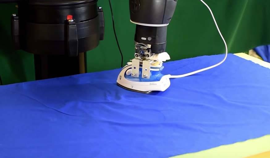 Le robot en pleine action