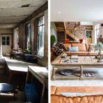 Le salon d'été avant et après les travaux.