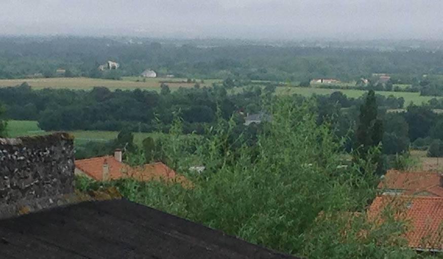 Bouzillé (Maine-et-Loire), vue sur le ville d'Ancenis.