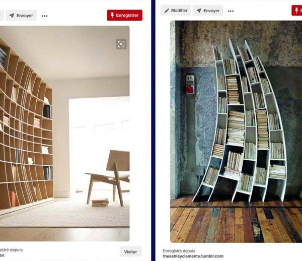 7 bibliothèques originales et désaxées repérées sur Pinterest