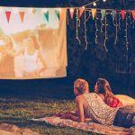 Une petite soirée ciné dans le jardin se profile...