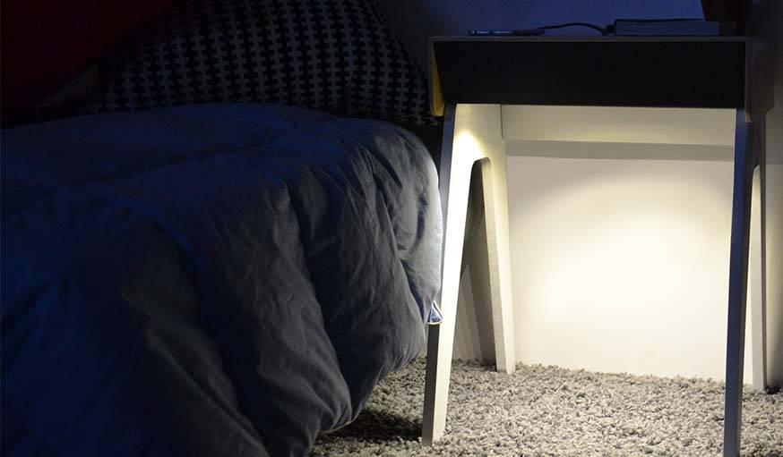 Cette lumière ne vous aveuglera lorsque vous vous réveillez en pleine nuit.
