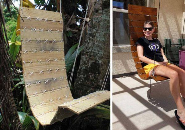 Tuto : un fauteuil suspendu DIY - Fabriquer un siège suspendu avec ...